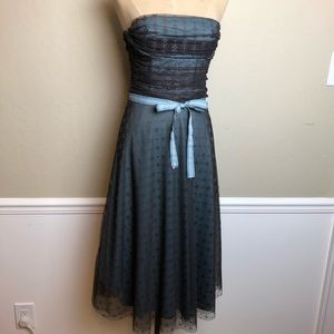 BCBG multi layered tulle strapless dress